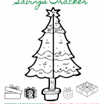 Christmas Savings Tracker (Coloring Sheet)