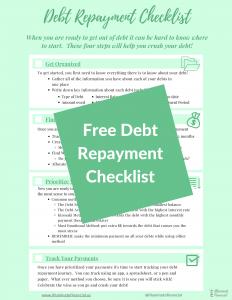 Free Debt Repayment Checklist