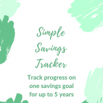 Simple Savings Tracker (Excel)