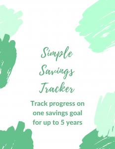 Simple Savings Tracker